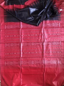 Traditional Gopalpur Tasar Ikat Saree with Blouse piece